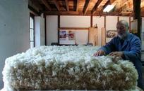 confection d'un matelas en laine