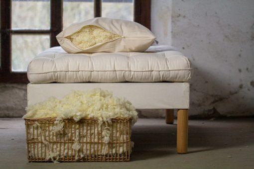 Oreillers en laine, 3 tailles