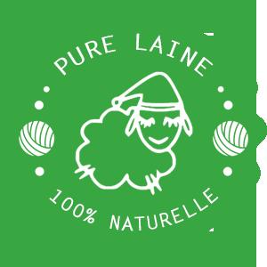pure laine 100% naturelle