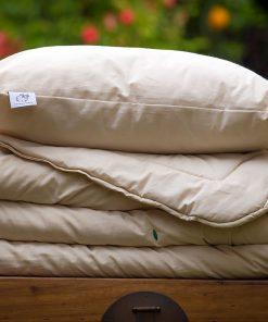 couette et oreiller en laine