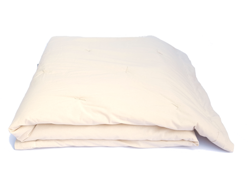 couette garniture 100% laine, enveloppe coton bio
