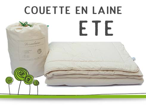 couette en pure laine vierge avec enveloppe en coton bio. Black Bedroom Furniture Sets. Home Design Ideas